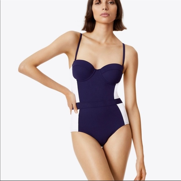 ee73776813f60 Tory Burch Swim | Lipsi Two Tone One Piece Suit L | Poshmark